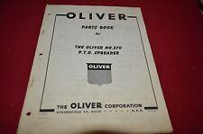 Oliver Tractor No. 270 Manure Spreader Dealer's Parts Book Manual BVPA