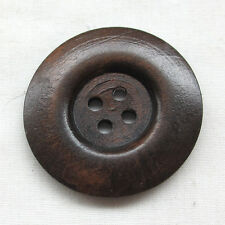 30pcs 40mm Brown Round Wood Buttons 4 Holes Craft Sewing Button T0928