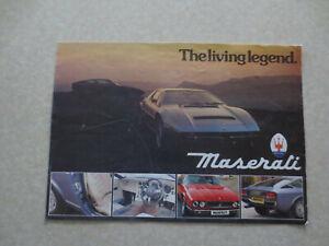 Original Maserati Kyalami & Merak SS & Khamsin car advertising brochure - UK