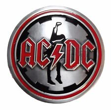 AC/DC Metal/Enamel Belt Buckle
