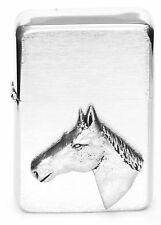 Horse Head Equestrian Gift Lighter Petrol Lighter FREE ENGRAVING Gift Boxed