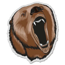 "Bear Grizzly Fierce Styling car bumper sticker decal 5"" x 4"""