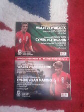 2013 - WALES v LITHUANIA & SAN MARINO (UNDER 21 EURO 2015 Qualifier)