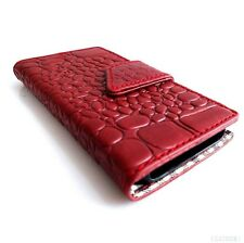 genuine vintage leather case for iphone 4s cover s 4 book wallet crocodile Model