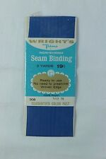 3 YD Wright's Trims 308 YALE Blue Seam Binding Card Making Gift Wrap Scrapbook