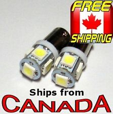 2x BA9S (T4W) Type COOL WHITE LED Bulbs - 5x5050 Chips - 12v