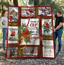 Merry Christmas Cardinals Those We Love Don't Go Away Sherpa Blanket