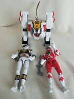 White Tigerzord, Red & White Ranger - Mighty Morphin Power Rangers - Bandai 1994