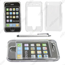 Coque Housse Etui Rigide Ultra Fin Slim Transparent Apple iPhone 3GS 3G + Stylet