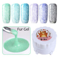 6 Colors/set Nail Art Fur Effect UV Gel Polish Soak Off Varnish Manicure 7-12
