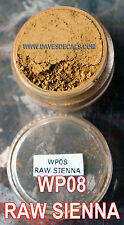 WP08 DAVE'S WEATHERING POWDERS ALL NATURAL PIGMENT RAW SIENNA DUST STAINS DIRT