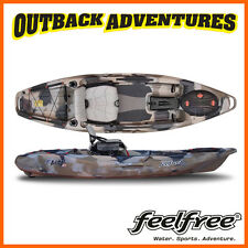 FEELFREE LURE 10 KAYAK DESERT CAMO with 230cm Day Tourer Paddle & Paddle Leash