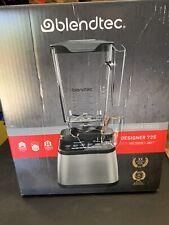 NEW Blendtec DESIGNER 725 Blender W/ Wildside Jar - 3 Qt. Stainless on Black