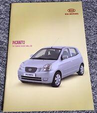 Kia Picanto Zipp! - Sales Brochure & Specification Sheet Plus Alloy Wheels / Nav