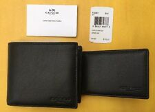 Final Sale! Brand New! Men's Coach Compact ID Sports Calf Leather Wallet, F74991