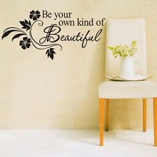 Removable Wall Sticker Be Your Own Kind Beautiful Flower Vine Home Decor Decal