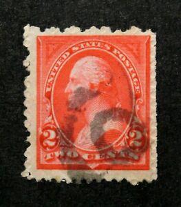 US Stamp Scott #250 ~ WASHINGTON carmine Type 1 no w/m 2c 1894 GR02