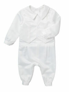 Baby Boys' Long Sleeve Romper Christening Newborn Suit Baby Boys Formal Jumpsuit