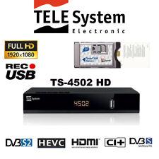 Tele System Ts4502 HD S2 HEVC CI Digital Satellite Decoder