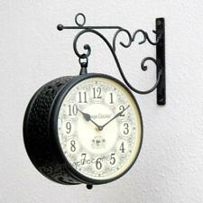 Vintage Clock Handcrafted Double Side Clock/Railway Clock Design Decor Style