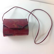 Egyptian Print Genuine Leather Purse Nefertiti Shoulder Bag Handcrafted Clutch