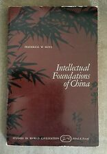 Intellectual Foundations Of China By Frederick W. Mote 1971 Borzoi Paperback
