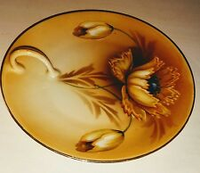 Antique porcelain Lemon Plate RS Germany Prussian Poppies Design Excellent Cond.