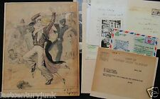 Watercolor Gouache by Vladimir Fedorovich Kadulin re Douglas Corriagan c '30s ++