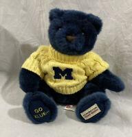 University of Michigan Herrington Teddy Bear Go Blue Plush with Yellow Sweater