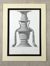 1857 Antique Print Bronze Candlestick Cathedral St Maria Organo Verona Italy