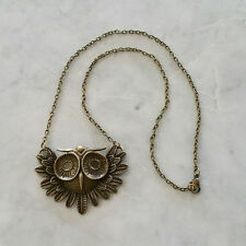 Bronze Owl Pendant - Necklace - Steampunk - Gothic