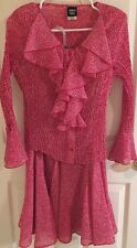 2 Piece Sharon Young Polyester Top Size 8 & Skirt Size 10 Red & White Polka Dot