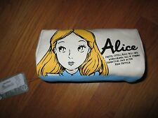 NWT Disney Store Japan Alice in Wonderland Canvas Pouch Cosmetic Bag Purse