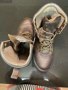 RED WING MENS BROWN LEATHER LACE UP MOC  EH 964 TOE DRESS SHOES Size 11 D
