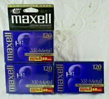 3 Vintage Maxell XR-Metal 120 Professional Quality Camcorder Tapes NOS Sealed