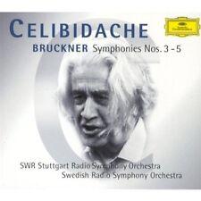 Bruckner: Symphonies Nos. 3-5 Celibidache 5 CDs Set DG NEW SEALED