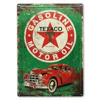 "12"" X 17"" GREEN TEXACO GASOLINE MOTOR OIL SIGN"