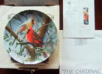 "Bradford/Knowles ""THE CARDINAL"" Birds of Your Garden + Original Box ~1984"