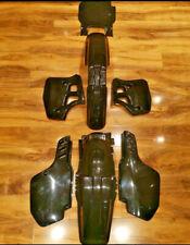 KAWASAKI KX 500 KX500 1988 - 2004 UFO ALL BLACK Plastic kit KX250 1989 250