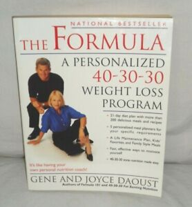 THE FORMULA:  A Personalized 40-30-30 Weight Loss Program - Paperback - NEW