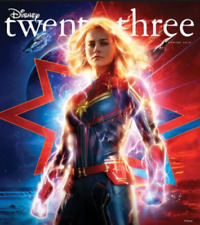 Disney Twenty-Three Spring 2019 Magazine - Captain Marvel - Plus Patch & Poster!