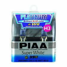 PIAA H3 3800K Platinum Super White Halogen Light Bulbs Xtra Technology 35W=60W