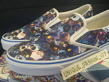 VANS CLASSIC SLIP ON LX TAKASHI MURAKAMI US 9 UK 8 EU 42 WHITE BLUE MULTI SKULL