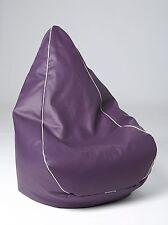 Chillizone Retro Bean Bag Purple/White Vinyl Adult 200 litre