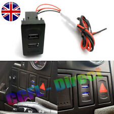 VW T4 USB Charger Blue Dual Dash Blank Rocker Switches 2 Port Socket DC 12V