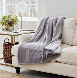 "Eddie Bauer | Smart Wi-Fi Heated Electric Throw Blanket (50"" x 60"" Gray)"