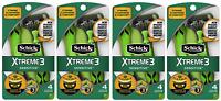 Schick Xtreme3 Sensitive Disposable Razors, 4 Count (Pack of 4)