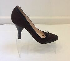 SERGIO ROSSI  DESIGNER BROWN Leather SUEDE HEELS PUMPS  EU 38 UK 5 RRP £300