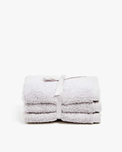 3 x Zara Home Premium Quality Cotton Washcloth Towels Grey Brand New / Set of 3