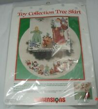 "Dimensions Cross Stitch Kit ""Toy Collection"" 46"" Tree Skirt by Barbara Mock 1989"